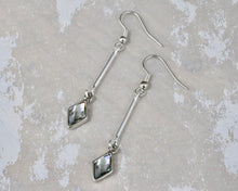 Load image into Gallery viewer, Berlynne Drop Earrings - Black Diamond