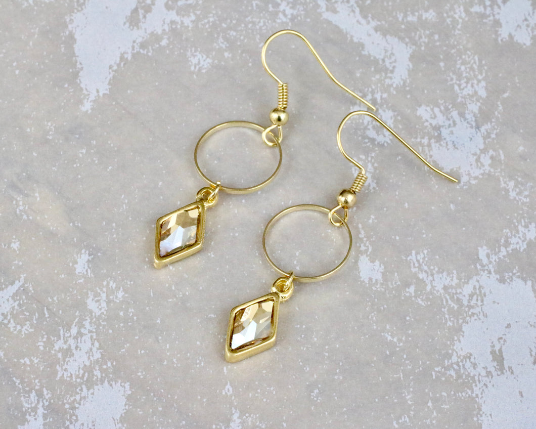 Berlynne Ring Drop Earrings - Golden Shadow