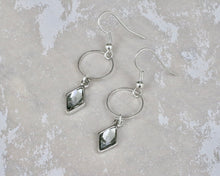 Load image into Gallery viewer, Berlynne Ring Drop Earrings - Black Diamond