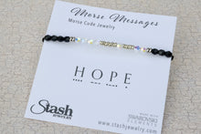 Load image into Gallery viewer, Morse Messages Bracelet - Hope