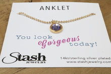 Load image into Gallery viewer, Swarovski Crystal Anklet - Crystal Silver Night