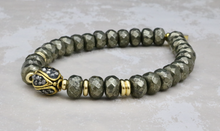 Load image into Gallery viewer, Pave Crystal Bead on Pyrite - Stash Jewelry Exclusive