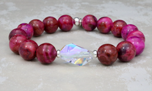 Load image into Gallery viewer, Bethaney Bracelet - Pink Crazy Agate