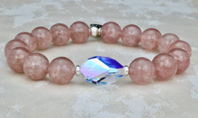 Load image into Gallery viewer, The Bethaney - Swarovski Crystal and Strawberry Quartz