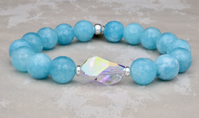 Load image into Gallery viewer, The Bethaney - Swarovski Crystal and Blue Quartz Bracelet