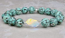Load image into Gallery viewer, The Bethaney - Swarovski Crystal and Mosaic Turquoise Bracelet