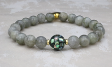 Load image into Gallery viewer, Abalone Shell and Labradorite Bracelet
