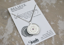 Load image into Gallery viewer, Believe - Swarovski Crystal Wax Seal Necklace