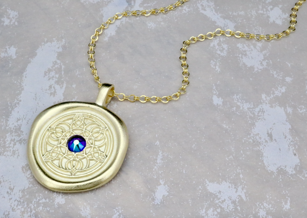 Strength - Swarovski Crystal Wax Seal Necklace