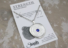 Load image into Gallery viewer, Strength - Swarovski Crystal Wax Seal Necklace