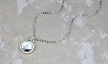 Load image into Gallery viewer, Chessboard Flat Swarovski Necklace - Crystal Clear