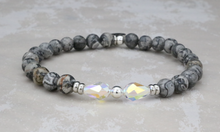 Load image into Gallery viewer, Ivy Bracelet - Gray Crazy Agate