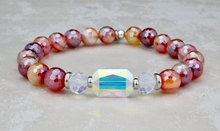 Load image into Gallery viewer, Adrian Bracelet - Red Stripe Agate