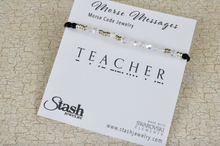 Load image into Gallery viewer, Morse Messages Bracelet - Teacher