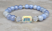 Load image into Gallery viewer, Adrian Bracelet - Mystic Blue Stripe Agate