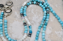 Load image into Gallery viewer, Mask Lanyard - Blue Agate