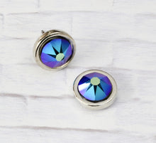 Load image into Gallery viewer, Petite Swarovski Crystal Studs - Cosmic Black