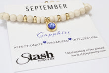 Load image into Gallery viewer, September Birthstone Bracelet - Sapphire