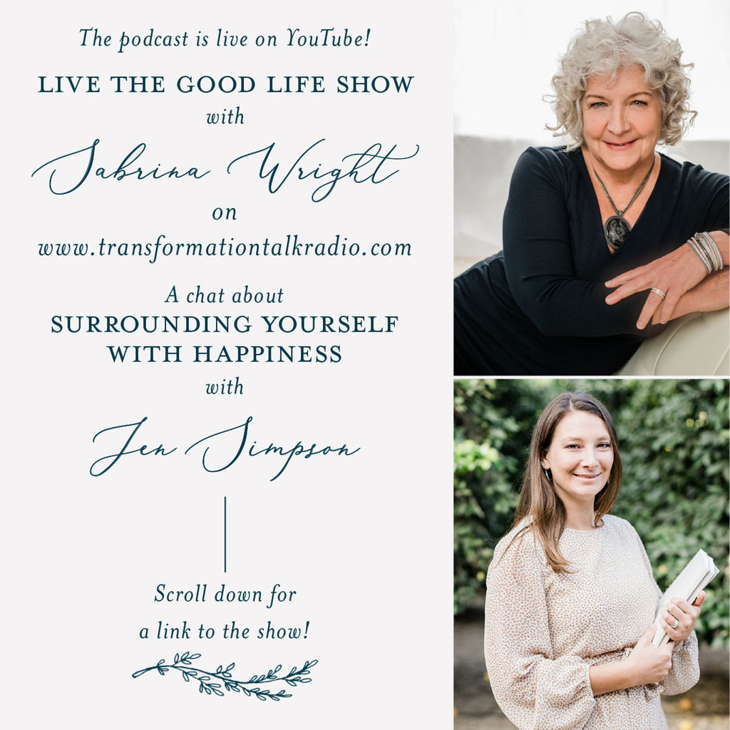Live the Good Life Show with Sabrina Wright // The power of Journaling