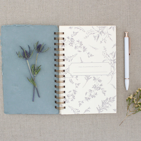 Agenda // Weekly Planner in Blue