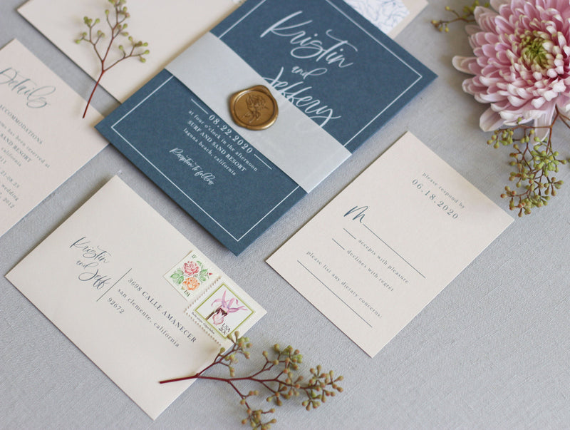 Kristin // Coastal Invitation Suite