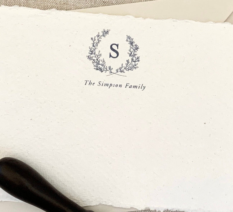 Laurel Crest // Personal Stationery