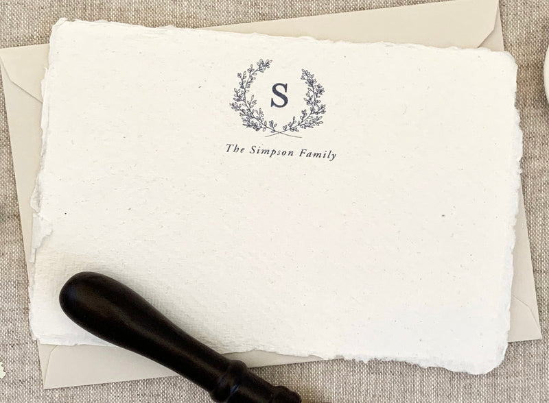 Monogram Crest // Personal Stationery