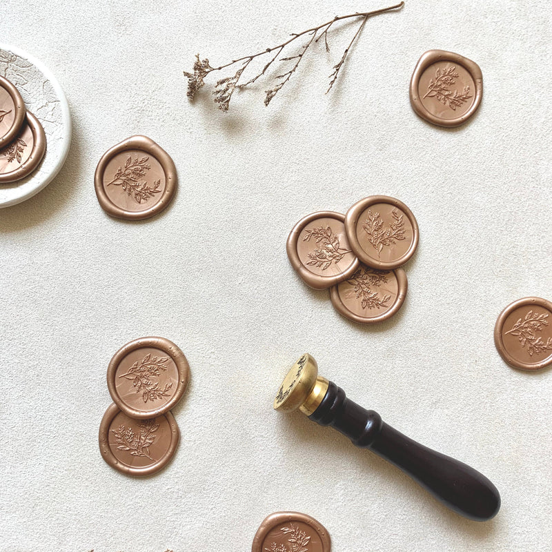 Rose Gold Branch // Wax Seals