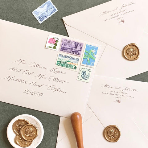 Love Your Earth Collection // Curated Vintage Stamps