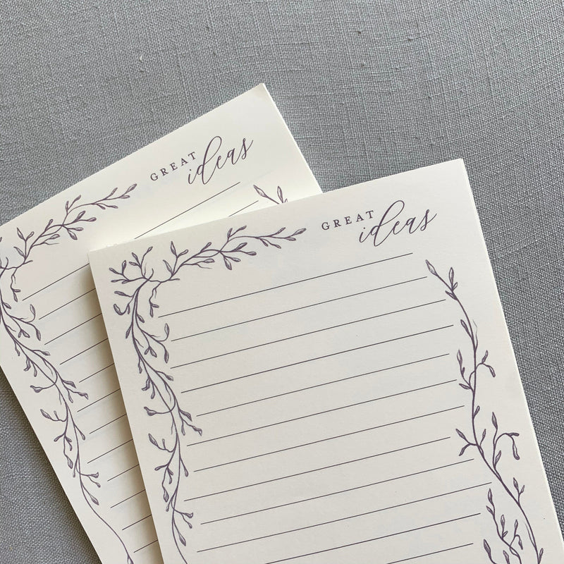 Great Ideas // Whimsical Vines Notepad