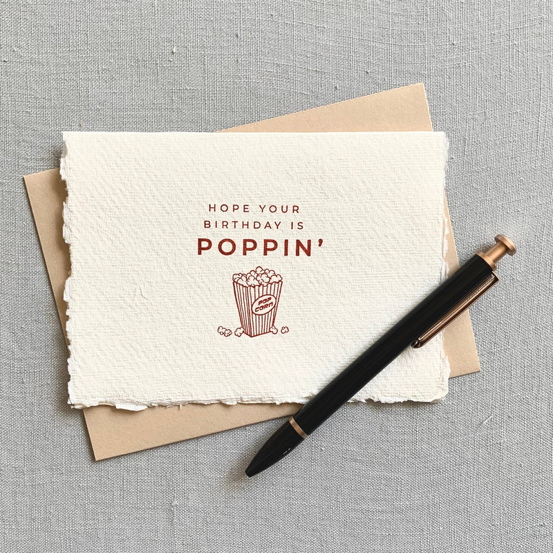 Hope your birthday is poppin' // birthday card