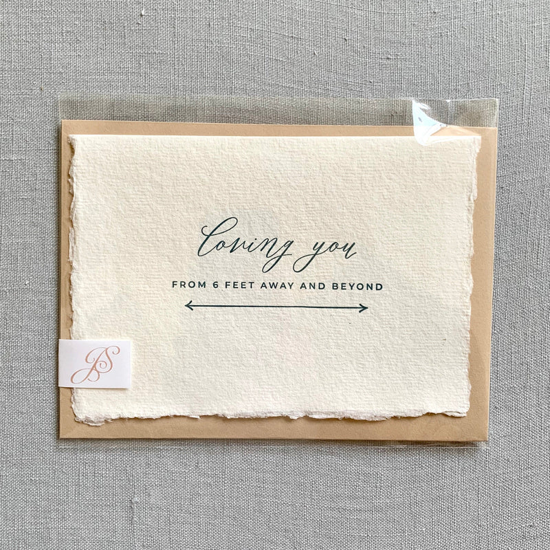 Loving you from 6 feet away // Covid-19 Card