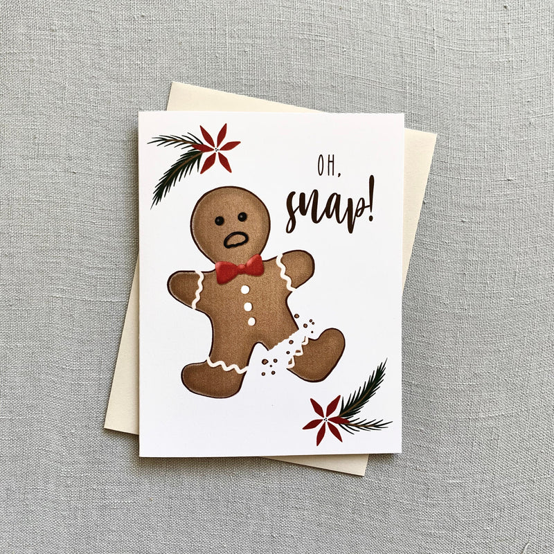 Oh Snap! // Gingerbread Card