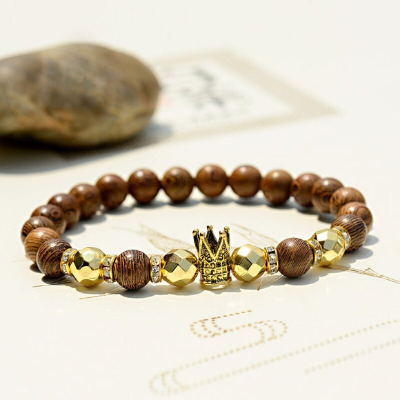 Wooden Bracelet and Crown