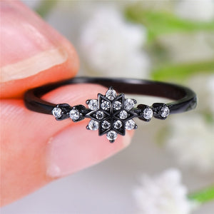 Diamante Snowflake Ring