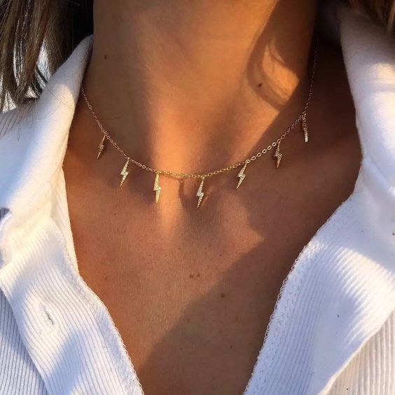 90s Lightning Bolt Necklace