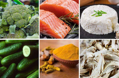 Food that improves immunity and reduces rosacea like cucumber salmon
