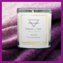 Load image into Gallery viewer, Tuscan- cashmere and plum scented soy candle