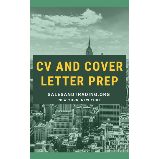 S&T CV and Cover Letter Prep