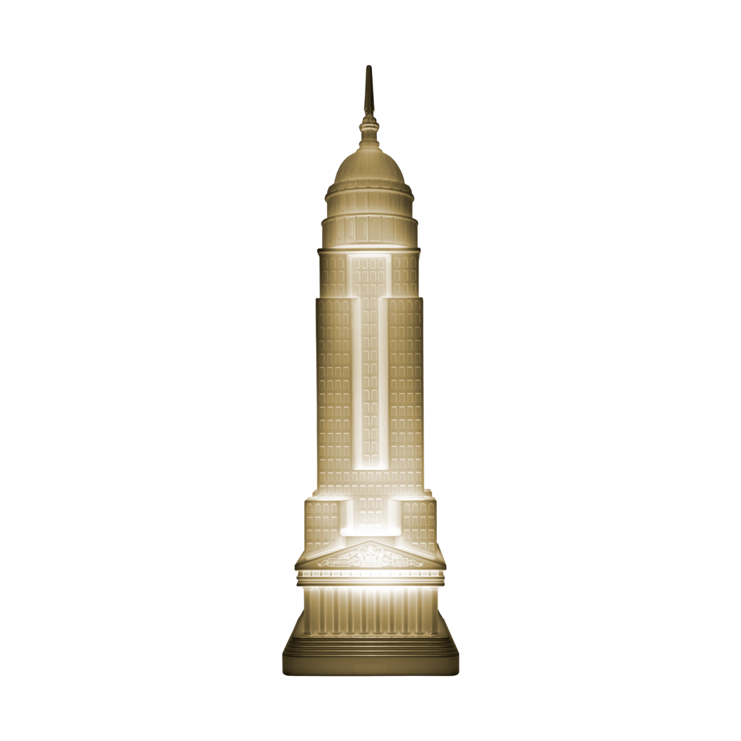 "This Empire State shape lamp is a simplified pop version object inspired by Studio Jobs' ""Robber Baron"" bronze sculpture from 2008."