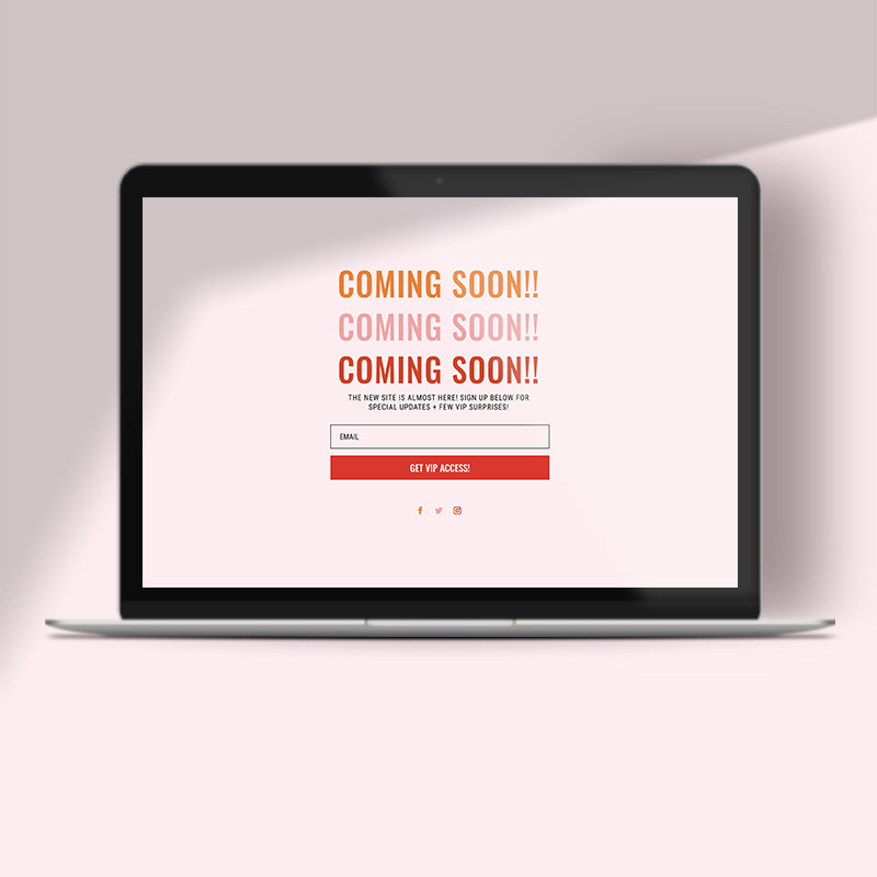 Bold – Coming Soon Page DIVI Layout