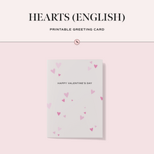 Load image into Gallery viewer, Hearts (English) Printable Greeting Card
