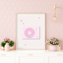 Load image into Gallery viewer, Pink Record Player Digital Print