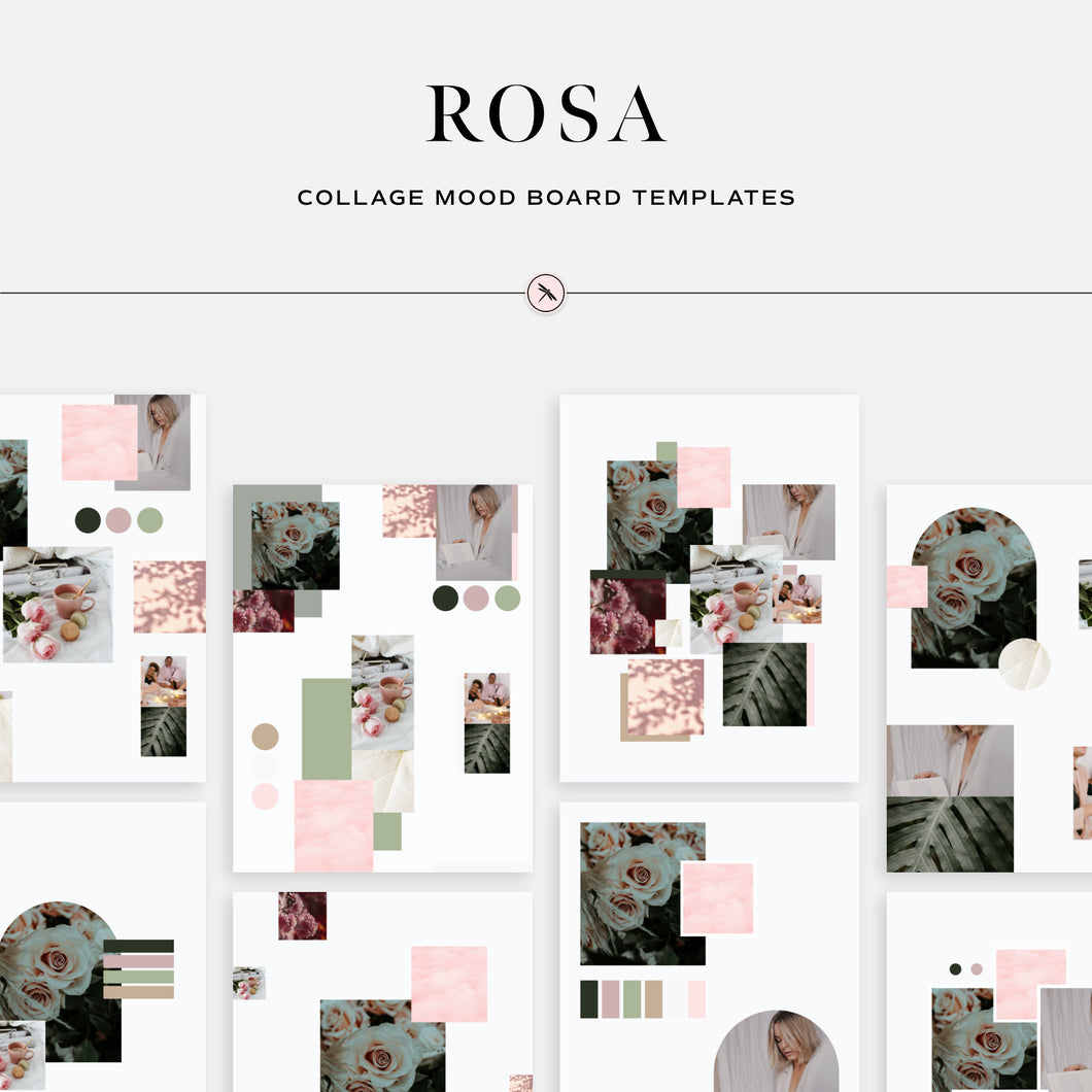 Rosa - Collage Mood Board Templates