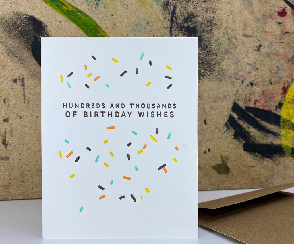 Hundreds and Thousands Birthday Card