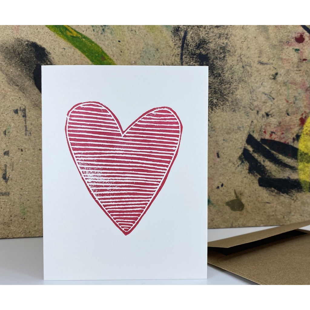 Heart - Linoprint Card