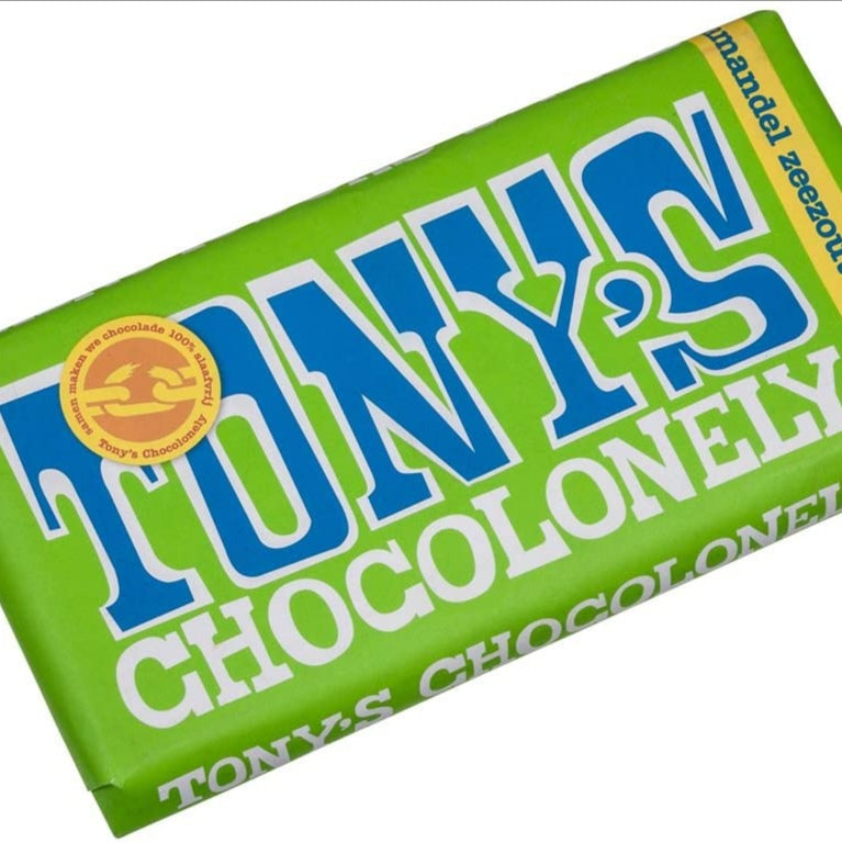 Tony's Chocoloney Dark Almond Sea Salt 51% - Sweet Beat Sligo