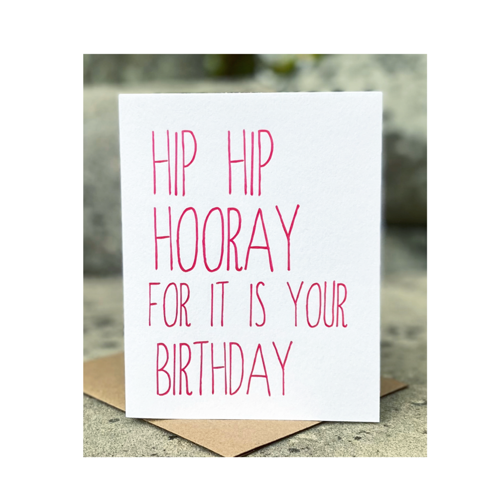 Hip Hip Hooray Birthday Card - Sweet Beat Sligo