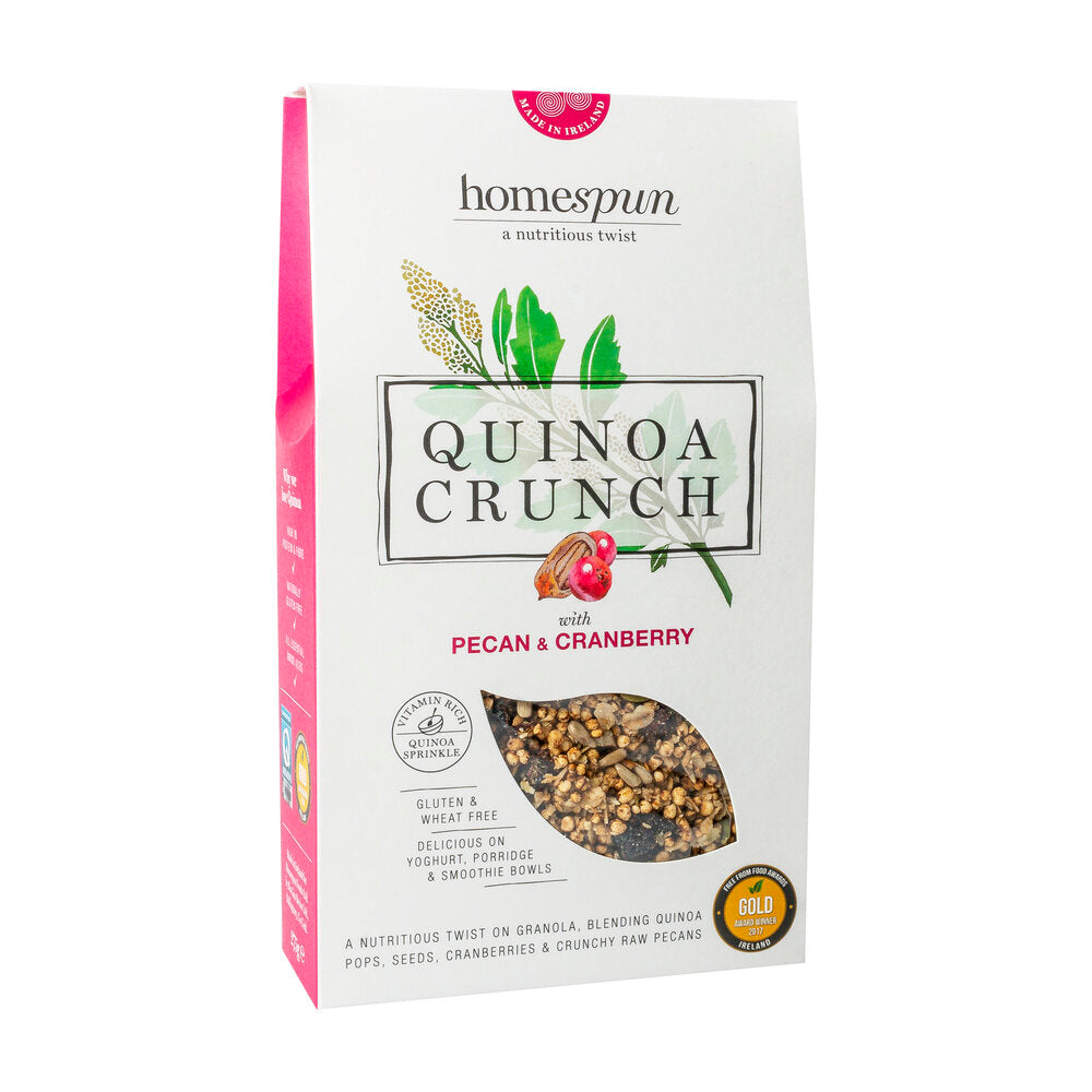 Homespun Quinoa Crunch - Pecan + Cranberry - Sweet Beat Sligo