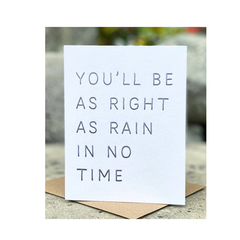 You'll Be As Right As Rain In No Time - Sweet Beat Sligo